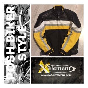 Xelement Armored Biker Jacket